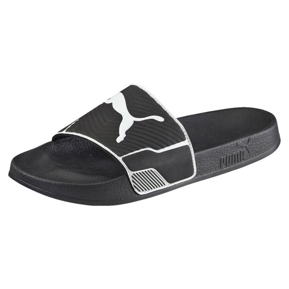 puma leadcat ts unisex-erwachs<wbr/>ene sandalen badelatschen Schwarz