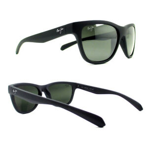 b9a8435b5466 NEW Maui Jim Sunglasses Secrets Black Matte Neutral Grey Polarized ...