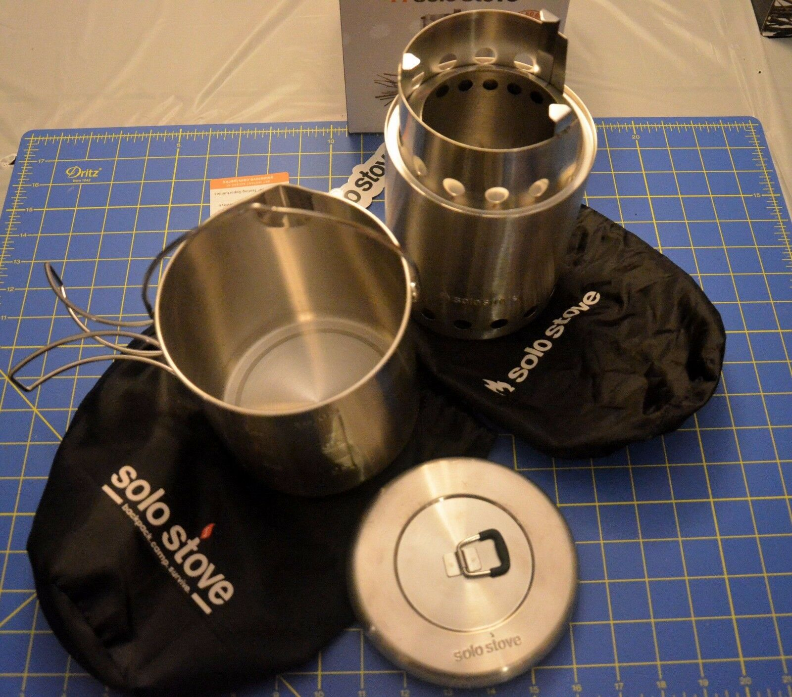 TITAN by Solo Stove Combo Kit twig burning gasifier Large Stove & Pot 1800 Set ☦