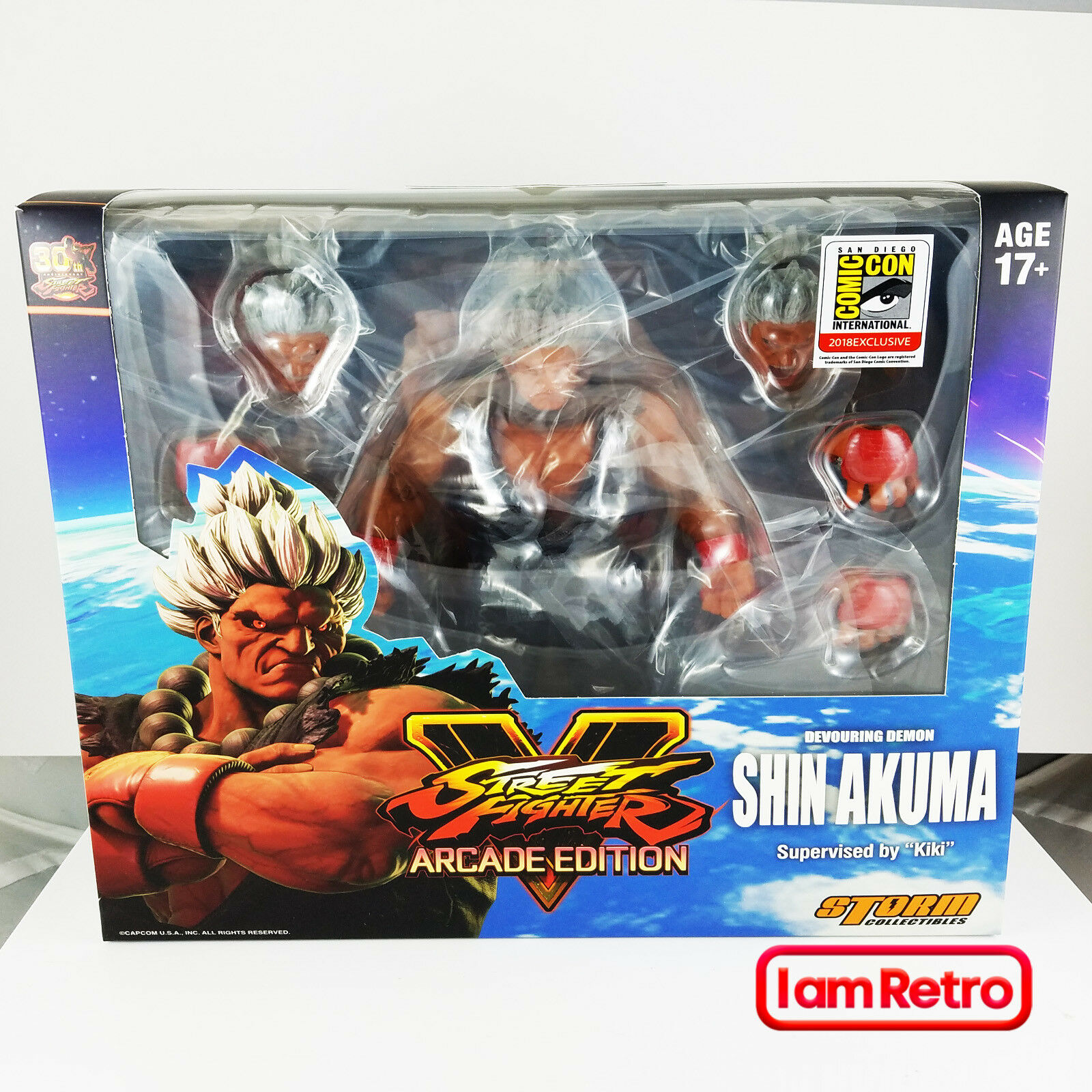 Shin Akuma SDCC Exclusive - Street Fighter V - 1 12 Figure Storm Collectibles
