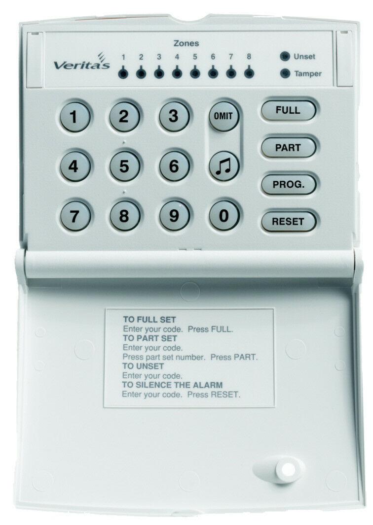 Texecom Veritas LED Keypad for 8, R8, R8 Plus and Compact 8 Control ...