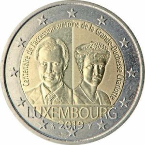 2 euro 2019 Luxembourg 100 anniversaire Grande Duchesse Charlotte