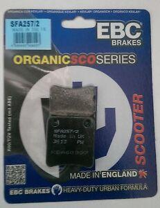 Piaggio MP3 400 SFA257//2 2007 to 2012 EBC Organic PARKING Disc Brake Pads