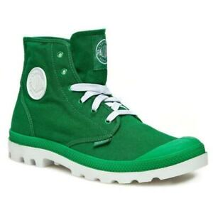 *NEW IN BOX* PALLADIUM Blanc Hi Unisex Green/White Lace Up Hiking Boots