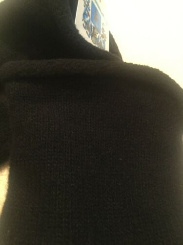 PORTOLANO NWT MEN/'S DESIGNER LAMBSWOOL BLEND GLOVES BLACK Sz Medium