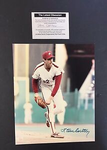 MLB Baseball Signed Steve Carlton Baseball Autographed Phillies Picture COA