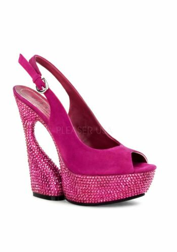 Pleaser Day /& Night SWAN-654DM 6 Inch Sculptured Heel 1 3//4 Inch Platform