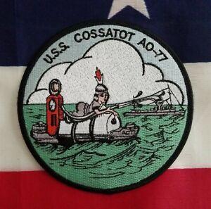 USS Cossatot AO 77 USN Military Fleet Oiler Navy Patch