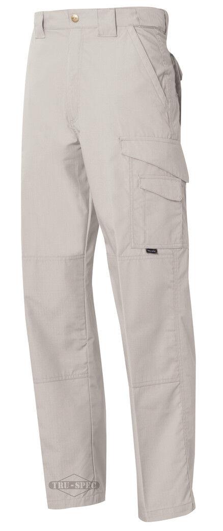 TRU-SPEC 24-7 Series Mens Tactical Pants 65 35 Poly Cotton Rip-Stop Stone