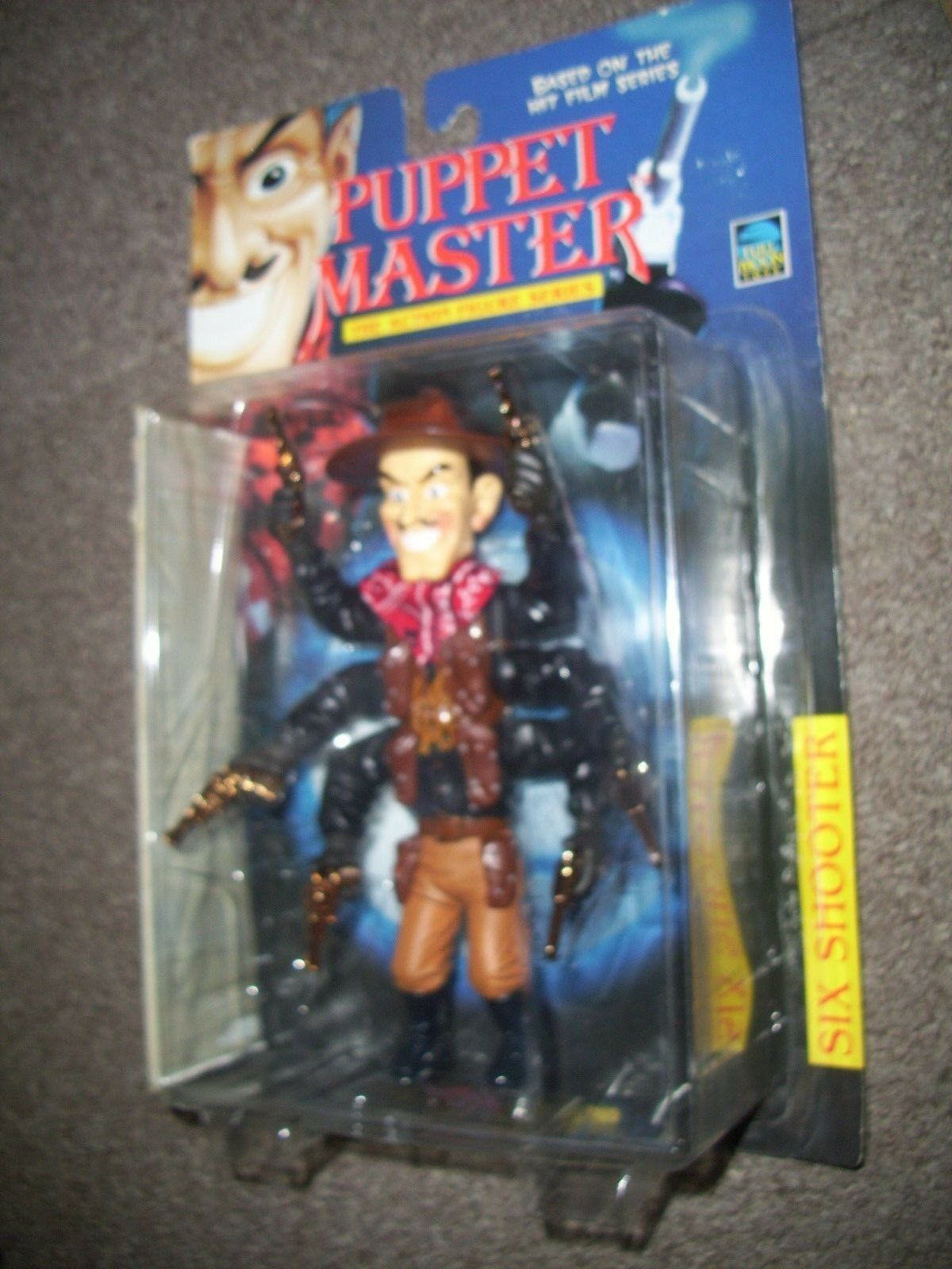Puppet Master Six Shooter in Nero FULL Moon Toys Action Figure. ancora SIGILLATA