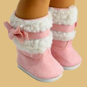 Mode-Rosa-Schuhe-Stiefel-fuer-18-039-039-Puppe-Kleidung-Kleid-Spielzeugs-suess
