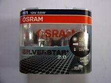 AMPOULES OSRAM SILVERSTAR H1 12 VOLTS 55 WATTS (2 Pcs) 60% De Lumière En Plus!