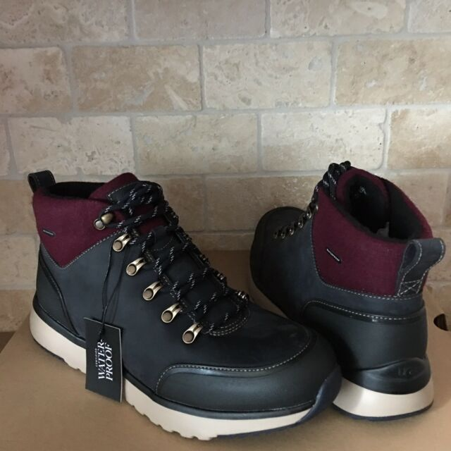 16f4a73295f UGG OLIVERT NAVY WATERPROOF LEATHER WOOL HIKER SNOW BOOTS SHOES SIZE 16 MENS