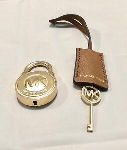 Image Is Loading Michael Kors Logo Gold Large Lock Amp Key