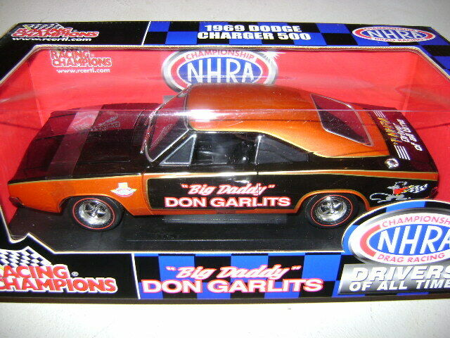 Super Rare Ertl 1 18-1969 Dodge Charger 500  Don Garlits Tribute Driver