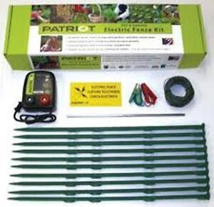 Patriot Pet Amp Garden Electric Fence Complete Kit Fencer