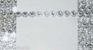 1 m Strassborte 9,5 mm Strassband Glitzerborte Farbenwahl Basteln Nähen 1084