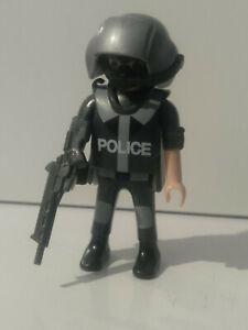 PLAYMOBIL X3 SUBFUSILES SUBFUSIL FUSILES AMETRALLADORA POLICIAS MILITAR AGENTE