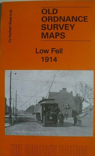 Old Ordnance Survey Detailed Maps Low Fell Co Durham 1914  Godfrey Edition New