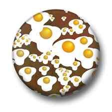 Fried Eggs 1 Inch / 25mm Pin Button Badge Tiles Pattern Design Cute Kitsch Fun
