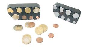 Look-medaillier-box-monnaies-Casier-a-EURO-Piece-de-Spender-Trieuse-Pour-Voyage
