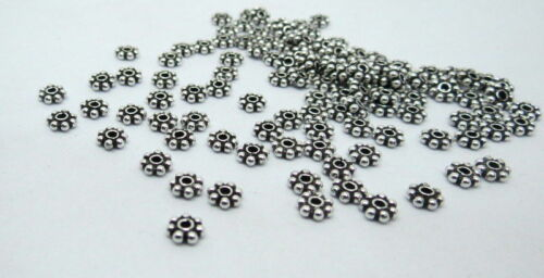 100 Pieces Argent Sterling 925 Perles Entretoise Bali Argent Perles Daisy Spacer 5 mm