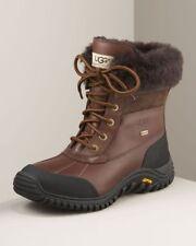NIB UGG Women's ADIRONDACK II Leather Winter Waterproof Boots OBSIDIAN BROWN