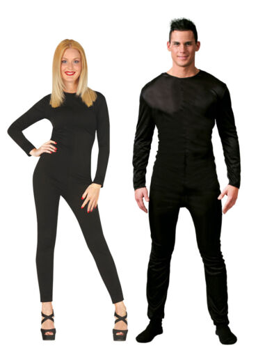 Mens Black Bodysuit Ladies Black Bodysuit Costume Theatre Halloween Outfit M L