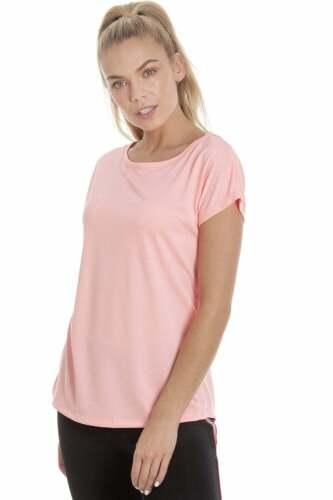 Camille Ex Dunnes Femme rose corail à manches courtes Top De Sport