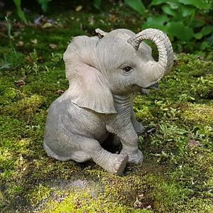 elefanten deko figur tierfigur afrika safari steppe dschungel wildlife elefant ebay. Black Bedroom Furniture Sets. Home Design Ideas
