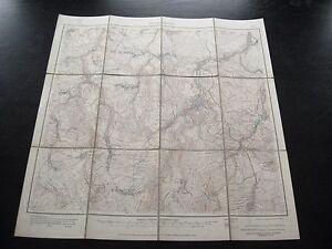 alte Landkarte Messtischblatt Sachsen Nr.102 Berggießhübel von 1921 auf Leinen