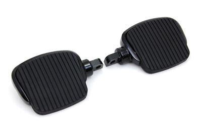 Black Mini Driver Footboard Set fits Harley-Davidson