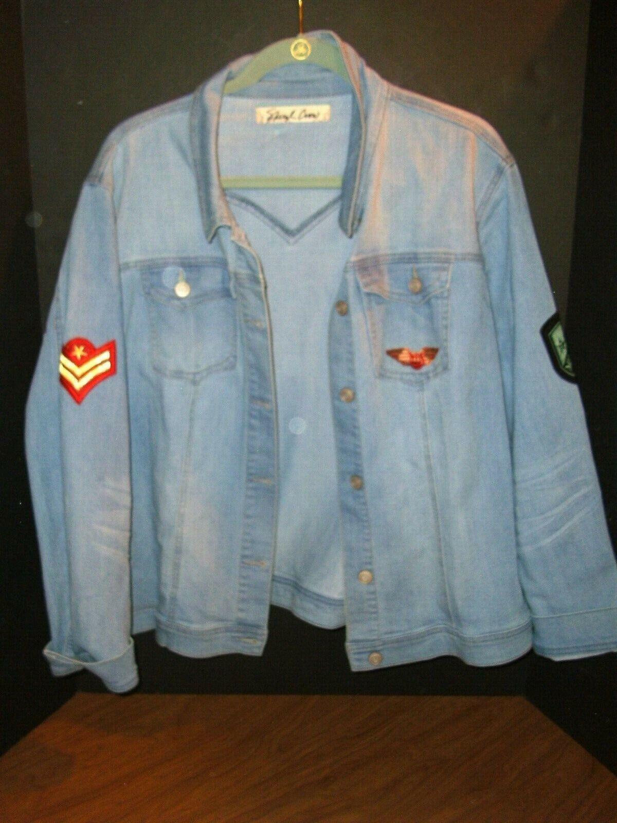 Damen 2 X Sheryl Crow Cool Militär Stil Jeansjacke Super