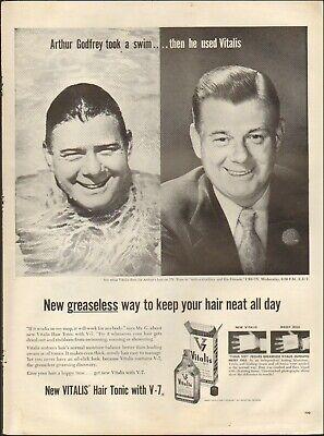 1956 Vintage ad for New Vitalis Hair Tonic`Arthur Godfrey Photo ...