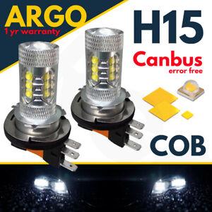 H15-Blanco-Coche-Bombillas-LED-Cree-80w-DRL-Luces-de-circulacion-diurna-Doble-Filamento-CANBUS