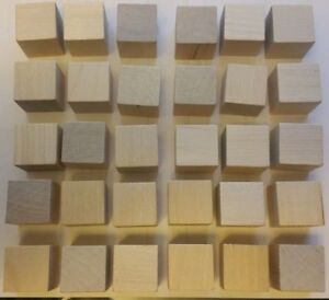 Details About Wooden Cubes 1 Inch Wood Square Blocks For Photo Blocks Crafts 30 Blocks