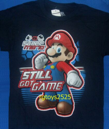 Super Mario Still Got GAME t-shirt 6-7 8 10 12 L 14 16 XL Short Sleeve Child New