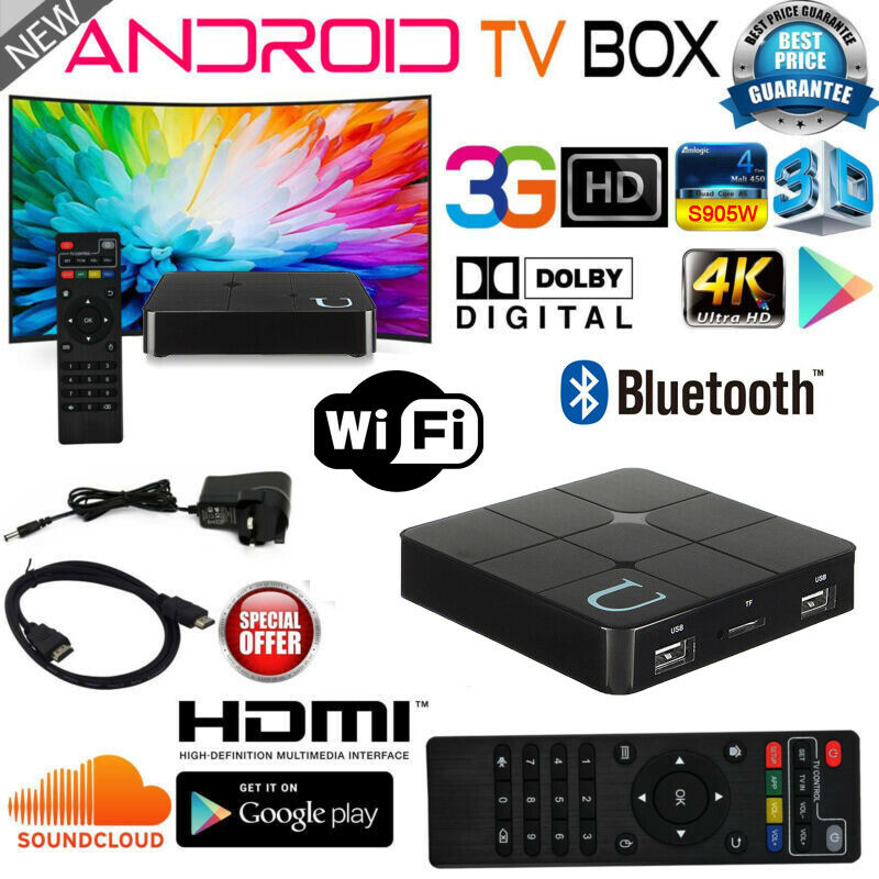 Smart Android 7.1 TV BOX Quad Core KD18.0 4K Wifi Internet TV 1+8GB