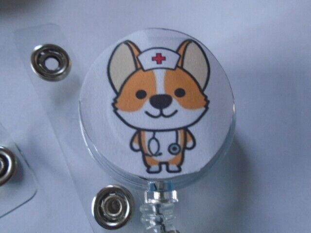 Animal Farm ID Badge Reel Vet Nurse Stethoscope Cartoon Fun YoYo Recoil Pet Tag