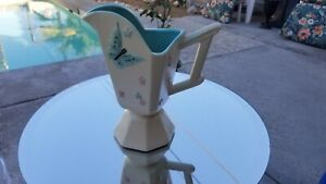 Vintage 1956 Hull Pitcher Pink & Blue Flowers Planter Mid Century Made in USA
