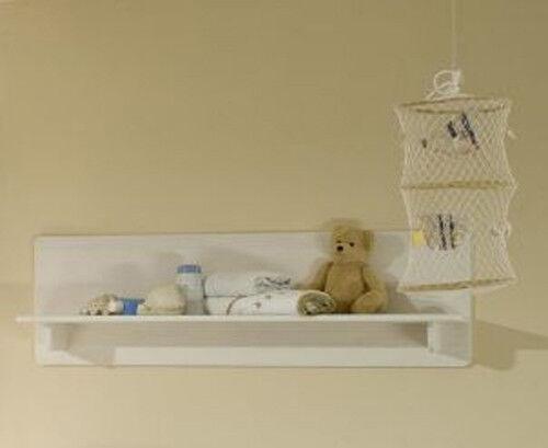 ODETTE Wandregal Wandboard Regal fürs BABYZIMMER Kinderzimmer Kiefer massiv Weiß