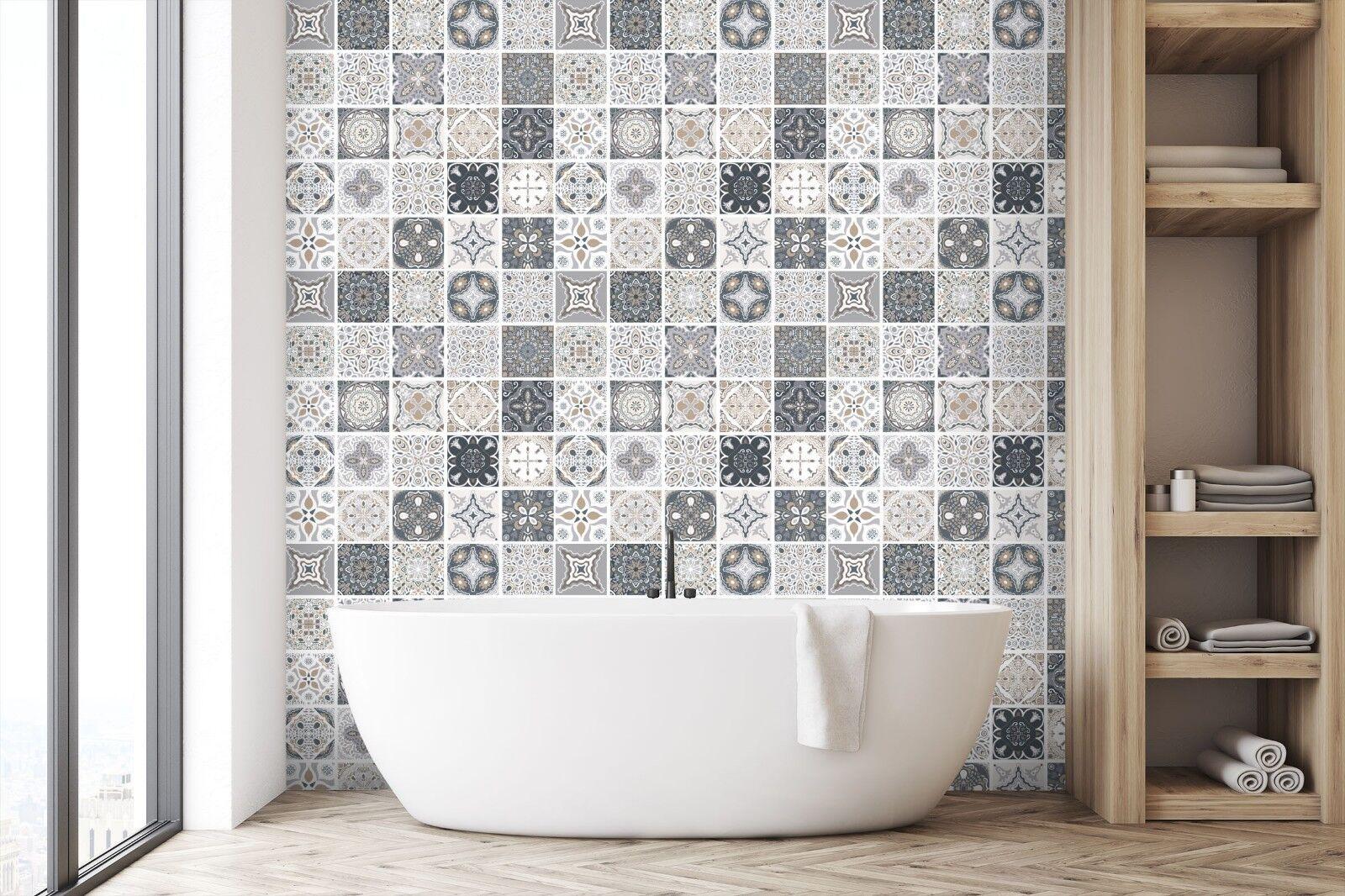 3D Heiße Blumen Grau 2 Textur Fliesen Marmor Tapeten Abziehbild Tapete Wandbild