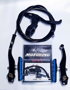 MOTOKING-BMX-PRO-8-V-BRAKE-KIT-BLACK-BLUE-FITS-Redline-Haro-SE-dk-GT-Mongoose