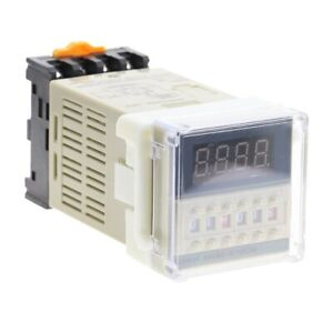 New 24V DC Programmable Double Time Delay Relay DH48S-S /& Free Socket Base UL