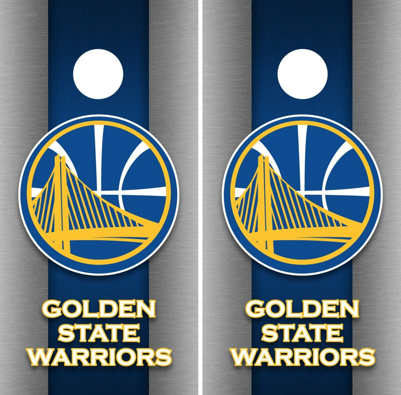 golden State Warriors Cornhole Wrap NBA Game Skin Set Vinyl Decal Decor CO610