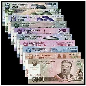 Korea-Banknotes-Set-10pcs-100th-Anniversary-Kim-Il-Sung-UNC