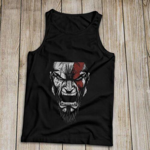 God of War Kratos Men/'s Tank Top 100/% Coton S-2XL made in USA fantôme de Sparte