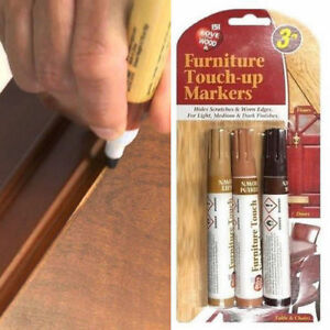 3 X Furniture Touch Up Pen Markers Remove Scratches