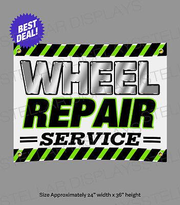 1.5/'x4/' TIRES BANNER Outdoor Indoor Sign Sale Wheels Rims Autos Repair Cars Shop