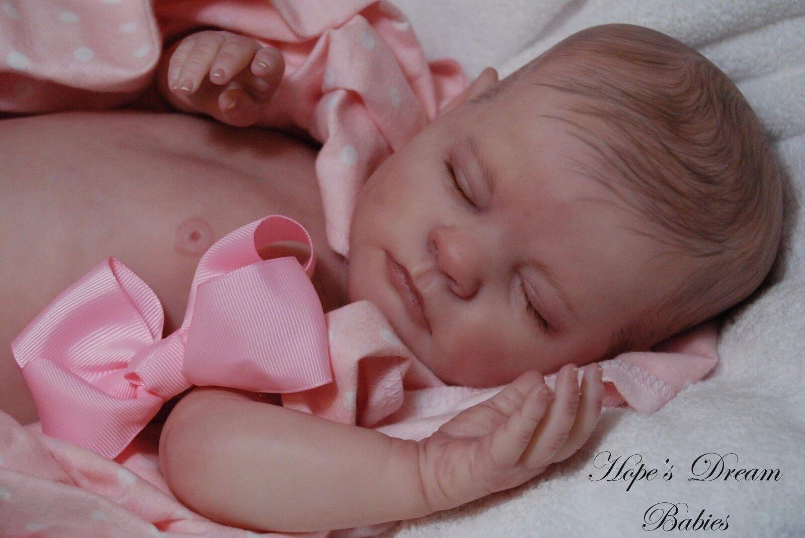 Hecho a pedido Reborn Twin Elizabeth OOAK Vinilo Arte Artista Muñeca bebé realista Nuevo